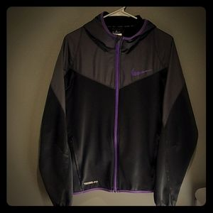 Nike Therma-Fit zip up hooded jacket women's Med.